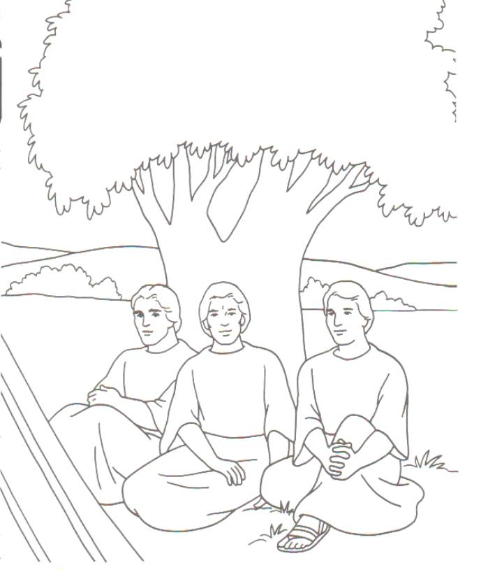 Coloring Pages Lot And His Wife Sketch Coloring Page