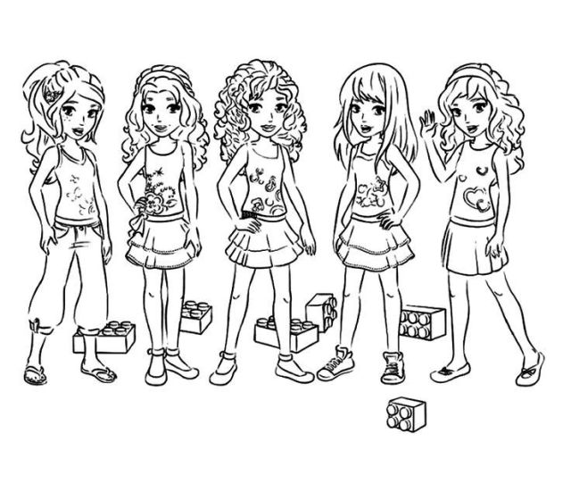 Lego Friends Coloring Pages Printable Free Coloring Home