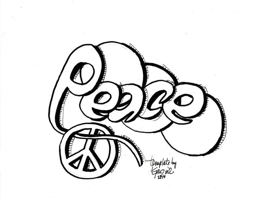 Graffiti Letters Coloring Pages - Coloring Home
