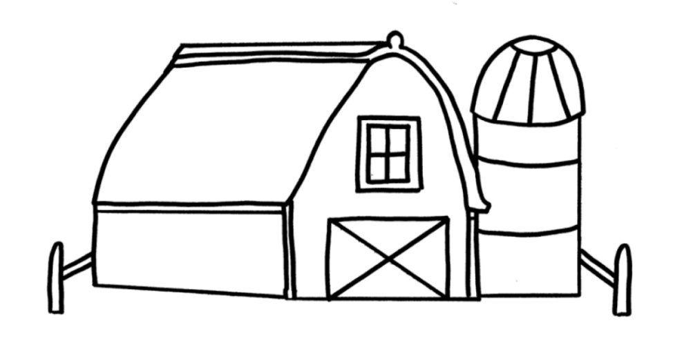 Animal Coloring Farm Coloring Sheet Barn2 : Farm Animals