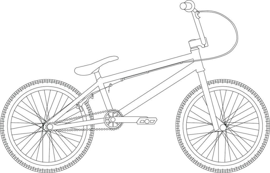 Online Bmx Bike Coloring Page Letscoloringpages Com Hot