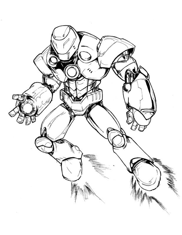 Free Iron Man Hulkbuster Coloring Pages Sketch Coloring Page