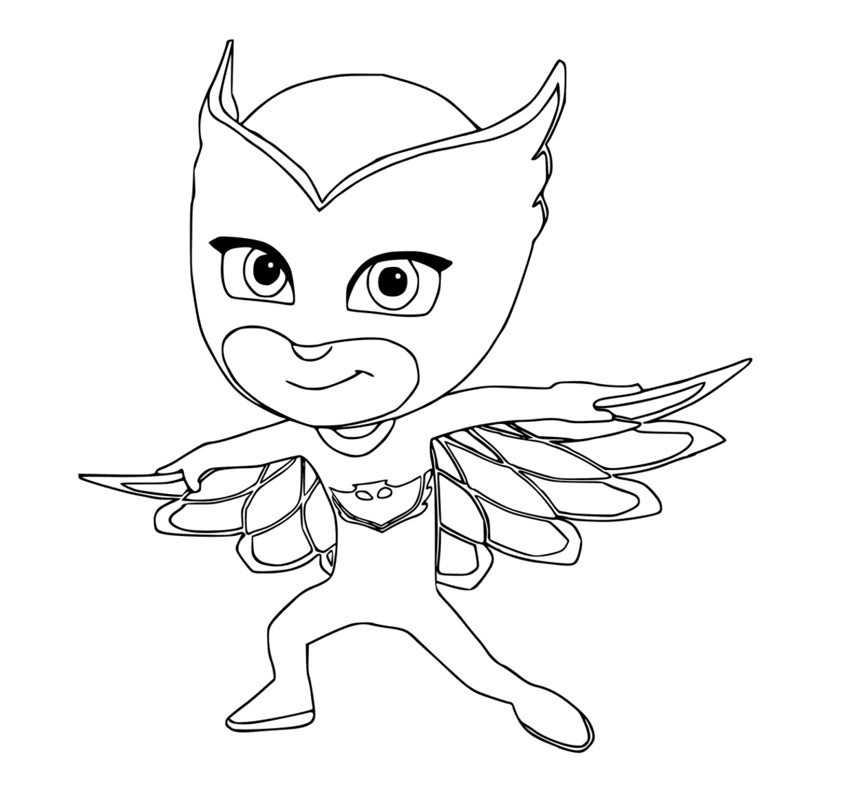Owlette Colouring Page