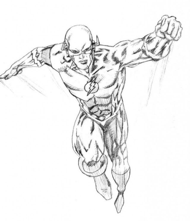 Coloring Pages: New The Flash Colouring Sheets Superhero Coloring