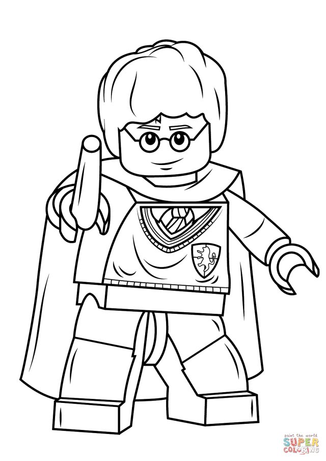 Lego Harry Potter Coloring Pages - Coloring Home