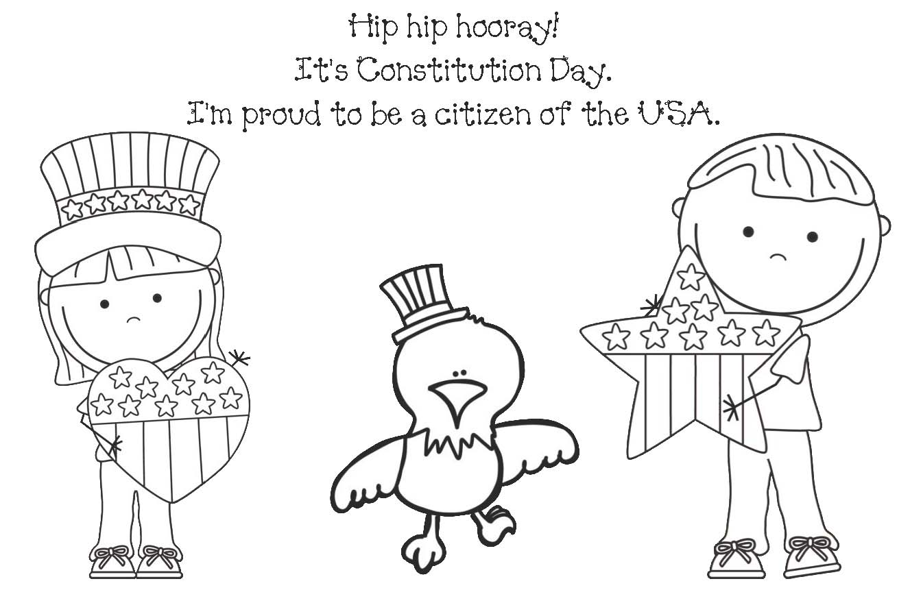 Constitution Day Coloring Page