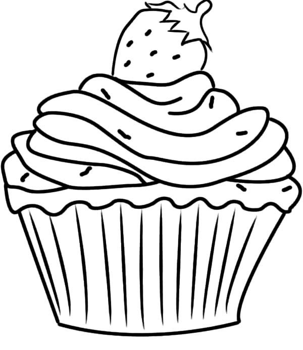 Free Cupcake Coloring Pages - Coloring Home