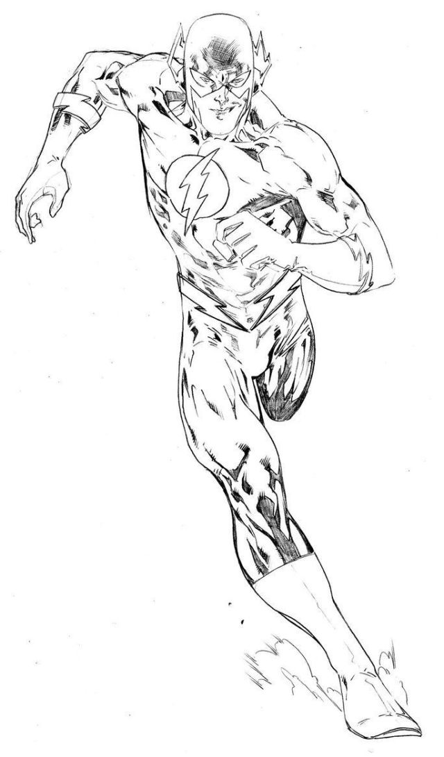 Coloring Pages Flash Superhero - Coloring Home