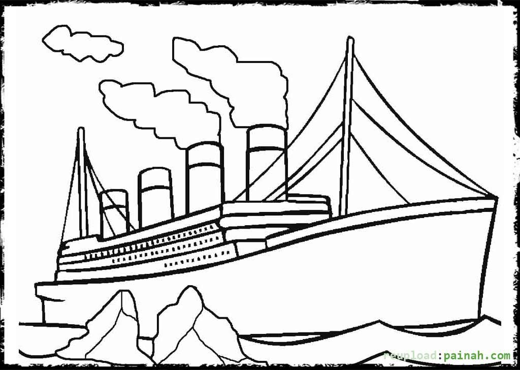 Picture Of Titanic Sinking To Color