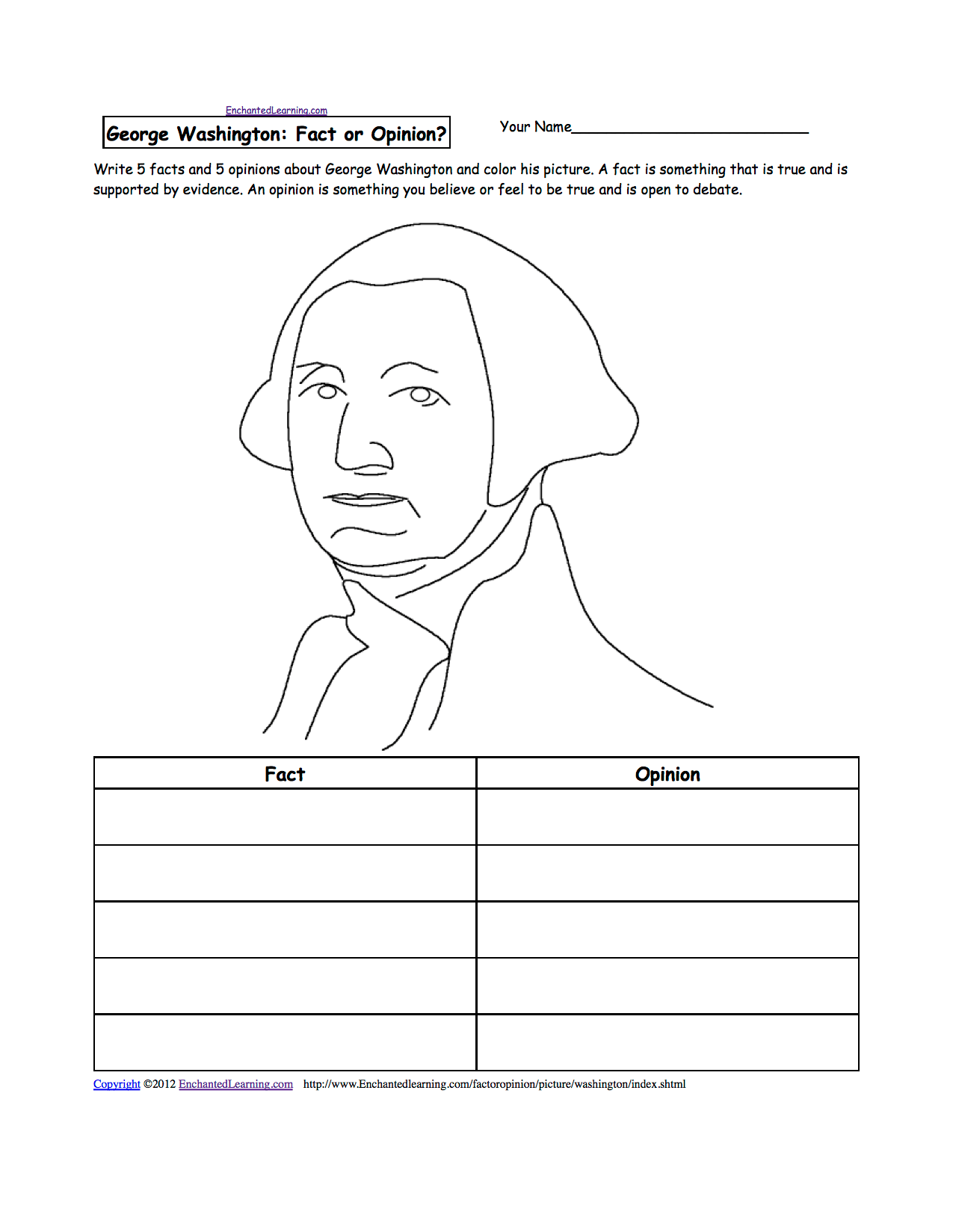 Washington State Educational Coloring Pages