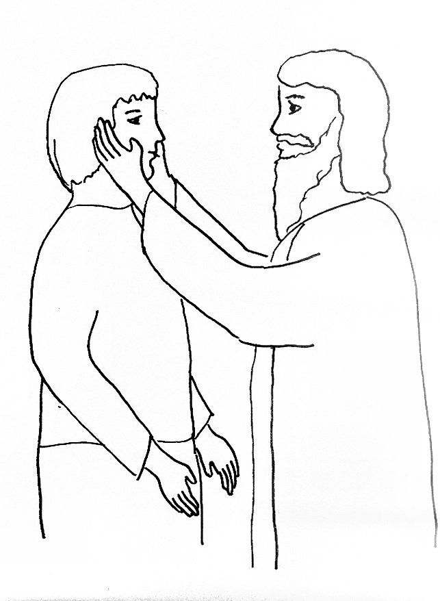 Coloring Pages Of Peter And John Heal A Lame Man