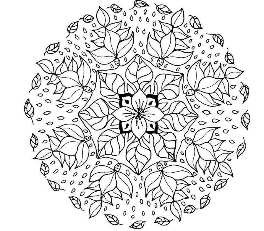 Advanced Mandala Coloring Pages Printable - Coloring Home | free printable coloring pages mandalas