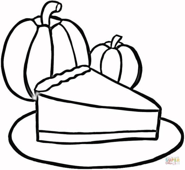 pie coloring page # 18