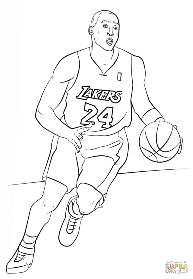 Kobe Bryant - LA Lakers Coloring Pages - Coloring Home