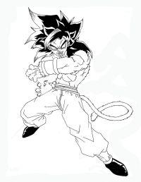 Dragon Ball Gt Goku Super Saiyan 4 Coloring Pages ...
