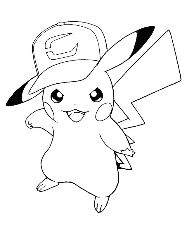 Pickachu Coloring Pages - Coloring Home
