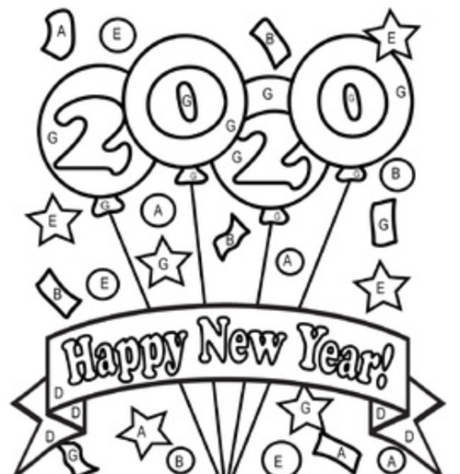New Year Party, Coloring Book, Fireworks, Drawing, Independence ... | 669x650