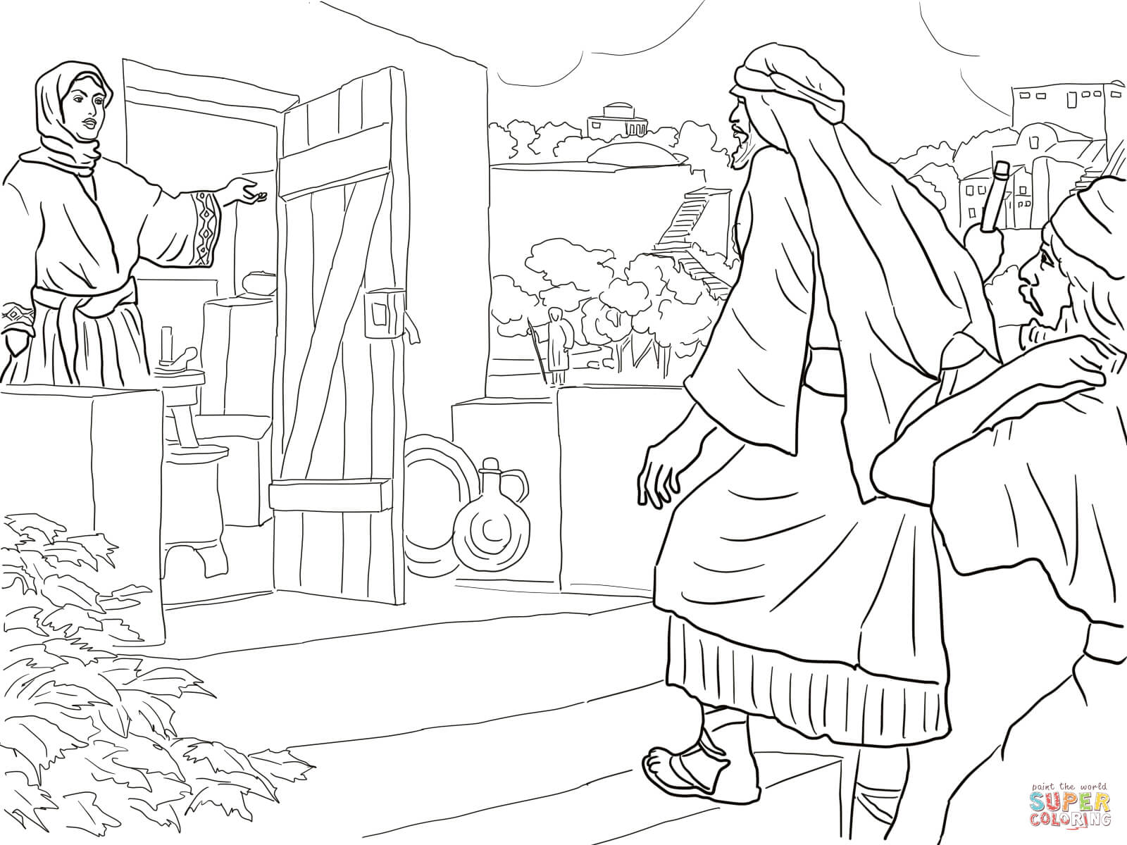 New Room Built For Elisha Coloring Page