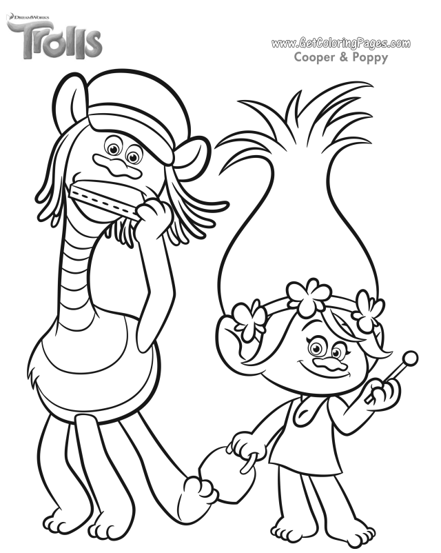 Dreamworks Trolls Coloring Pages - GetColoringPages.com - Coloring