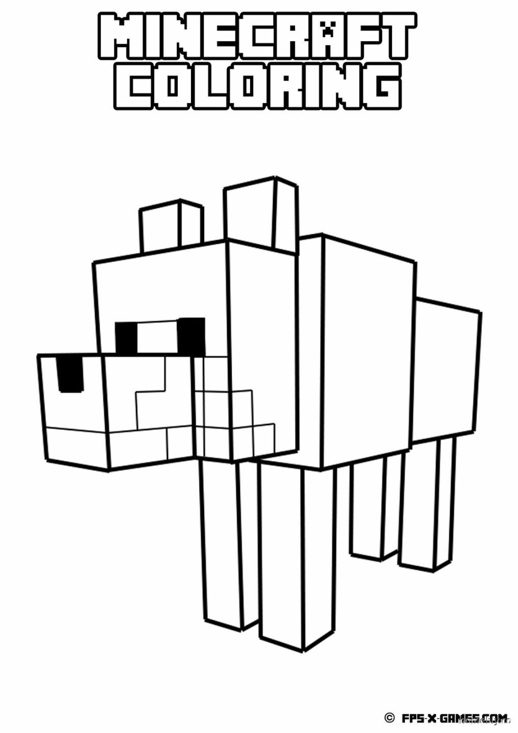 Minecraft Coloring Pages Free Coloring Pages Kostenlose Malvorlagen