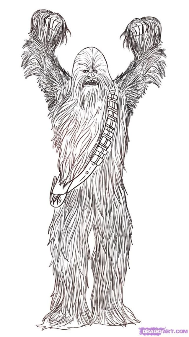 Chewbacca coloring pages kids