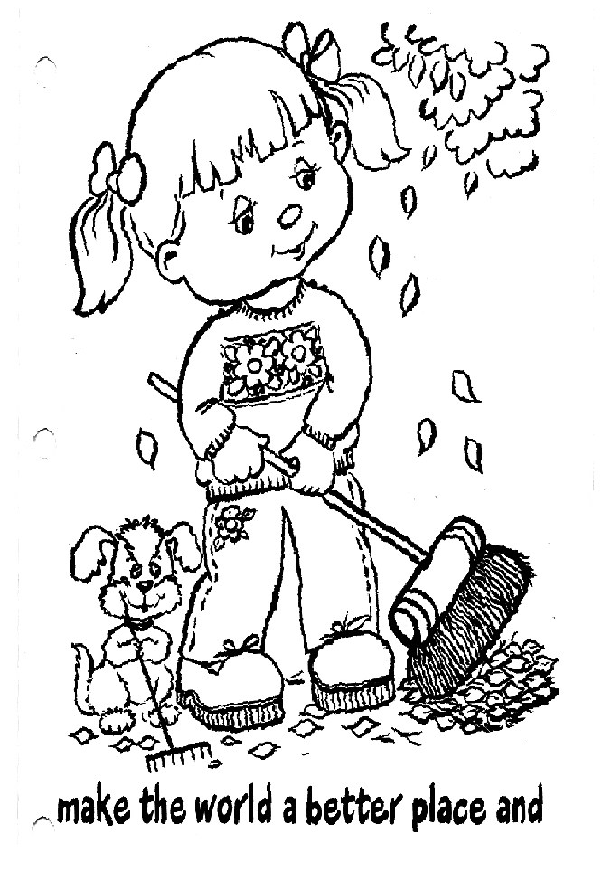 Daisy Girl Scout Coloring Page Responsible For What I Do