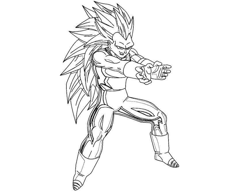 Dragon Ball Z Coloring Pages Vegeto Novocom Top