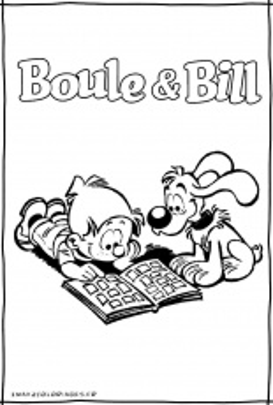 Boule Et Bill Le Film : boule, Boule, Adorable, Coloring, Pages, Colouring