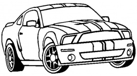 Ford Mustang GT Muscle Car Coloring Pages, 2005 Ford Gt