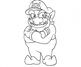 Coloring To Print Famous Characters Nintendo Wario Number