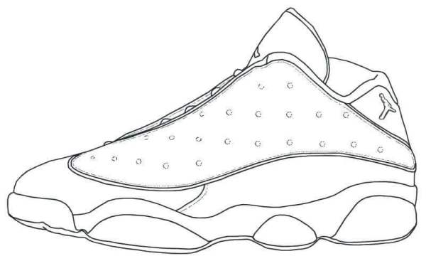 jordan shoe coloring pages # 26