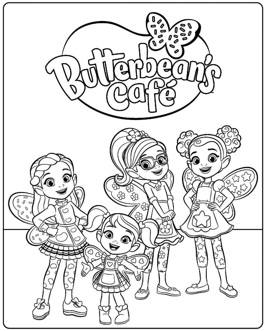 Free Butterbean S Cafe Coloring Pages Printable