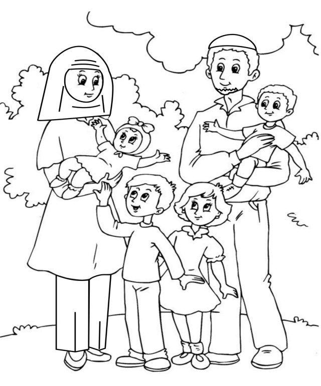 My family coloring pages for kids