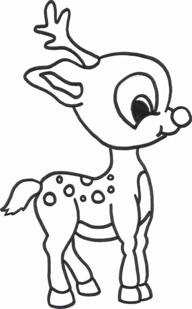 reindeer coloring pages kids - Coloring Page For Kids