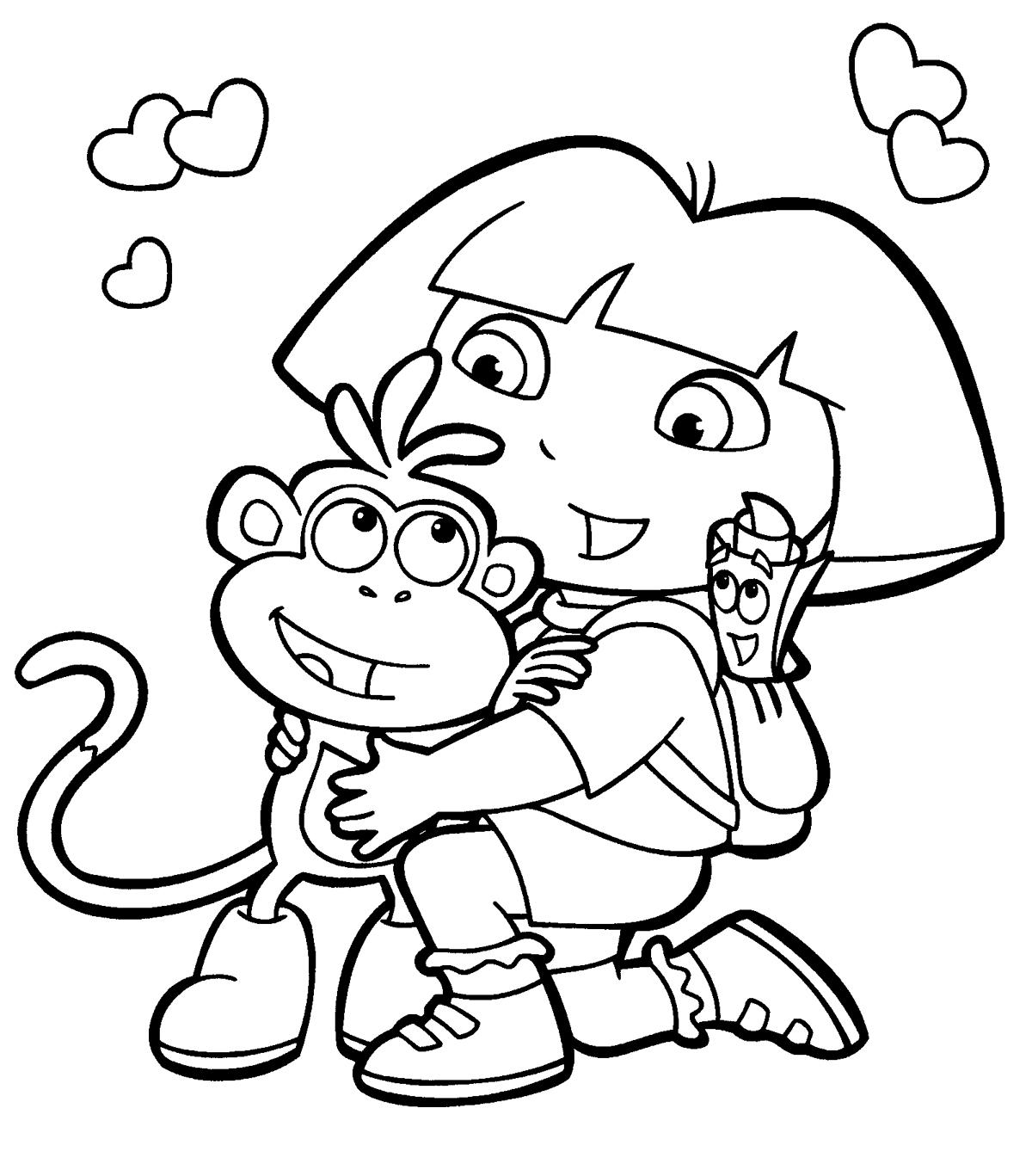 Dora The Explorer Coloring Pages 15 Coloring Kids