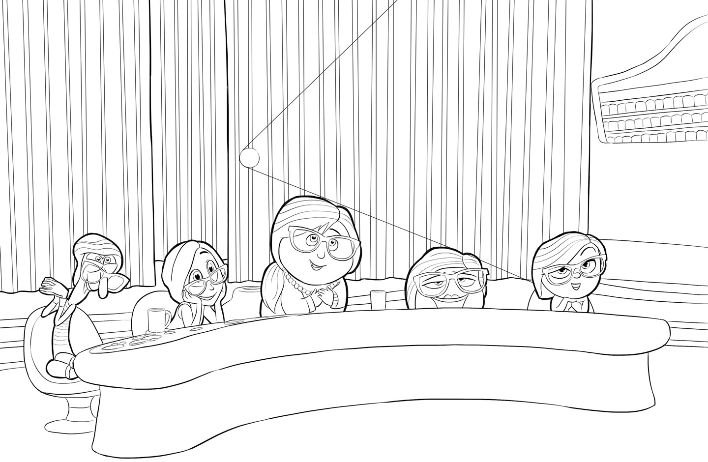 Inside Out Coloring Pages 1 Coloring Kids