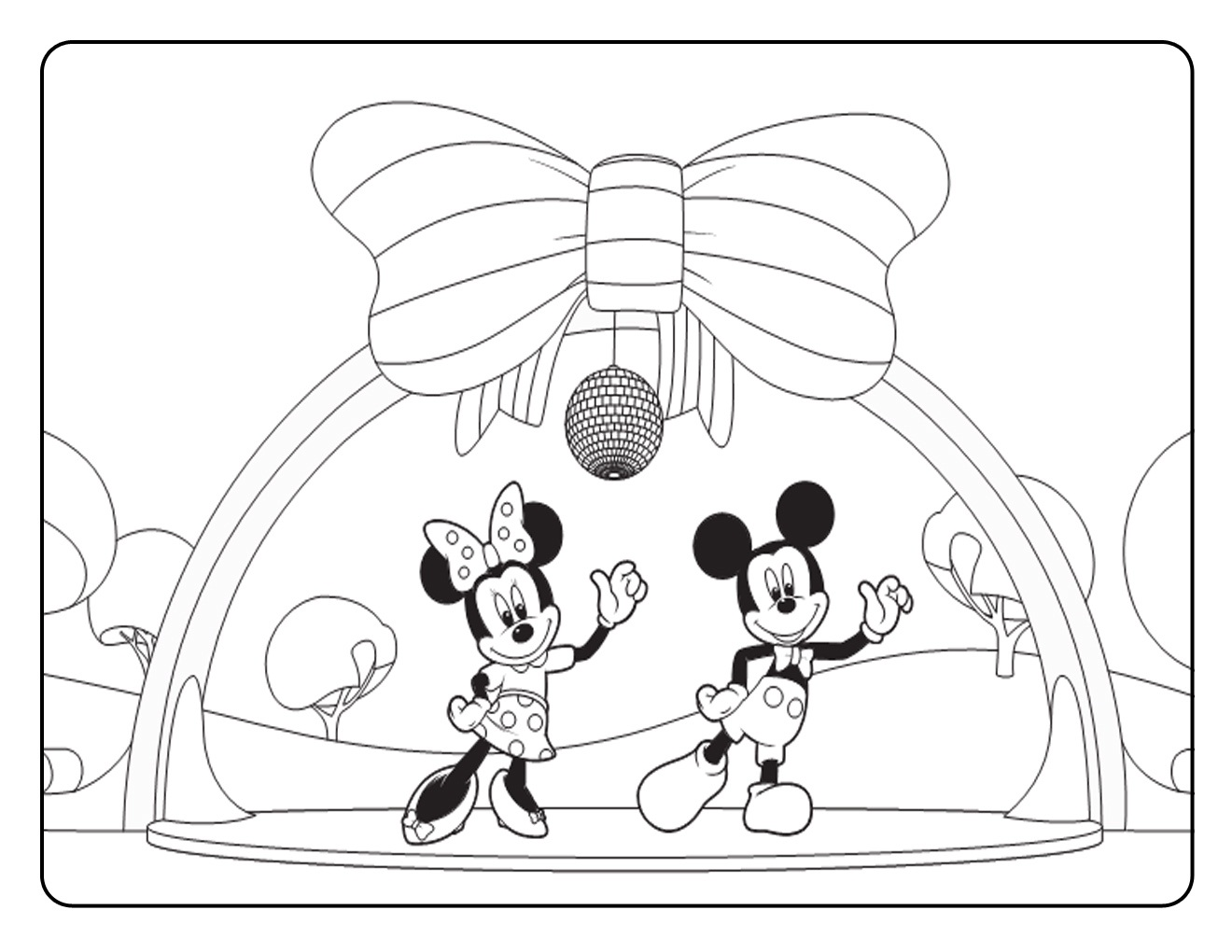 Mickey Mouse M Coloring Kids