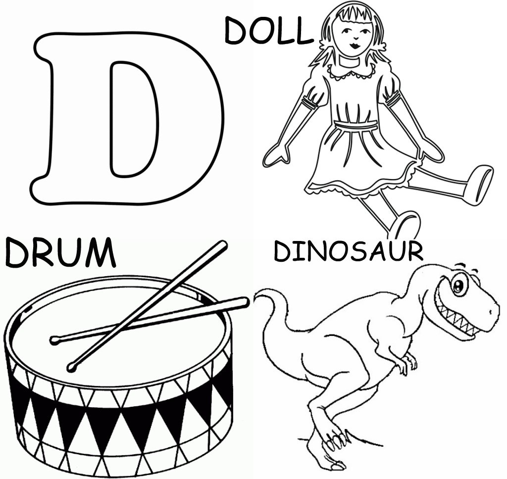 Coloring Pages That Start With The Letter D Sketch