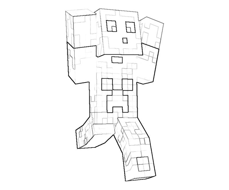 Printable Minecraft Character Action Coloring Pages