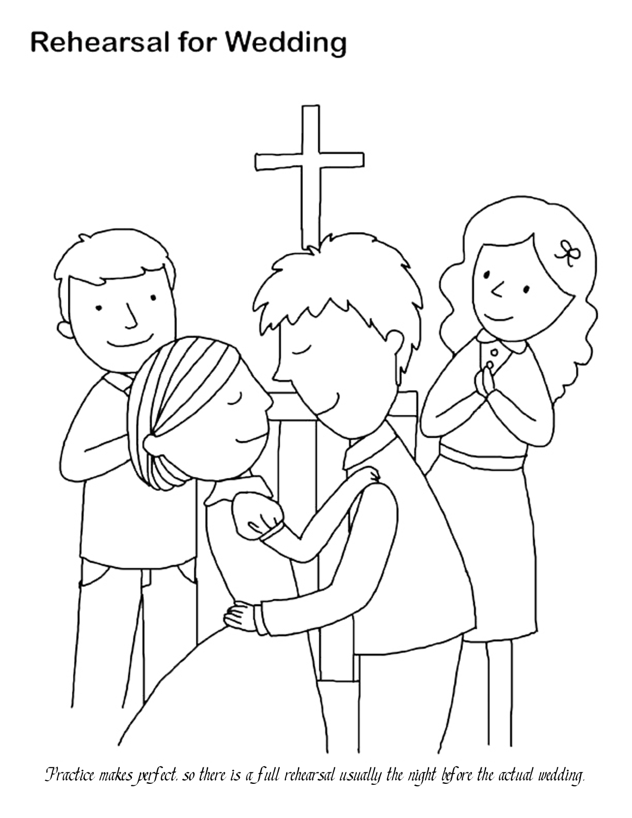 Free Coloring Pages Of Wedding For Kids