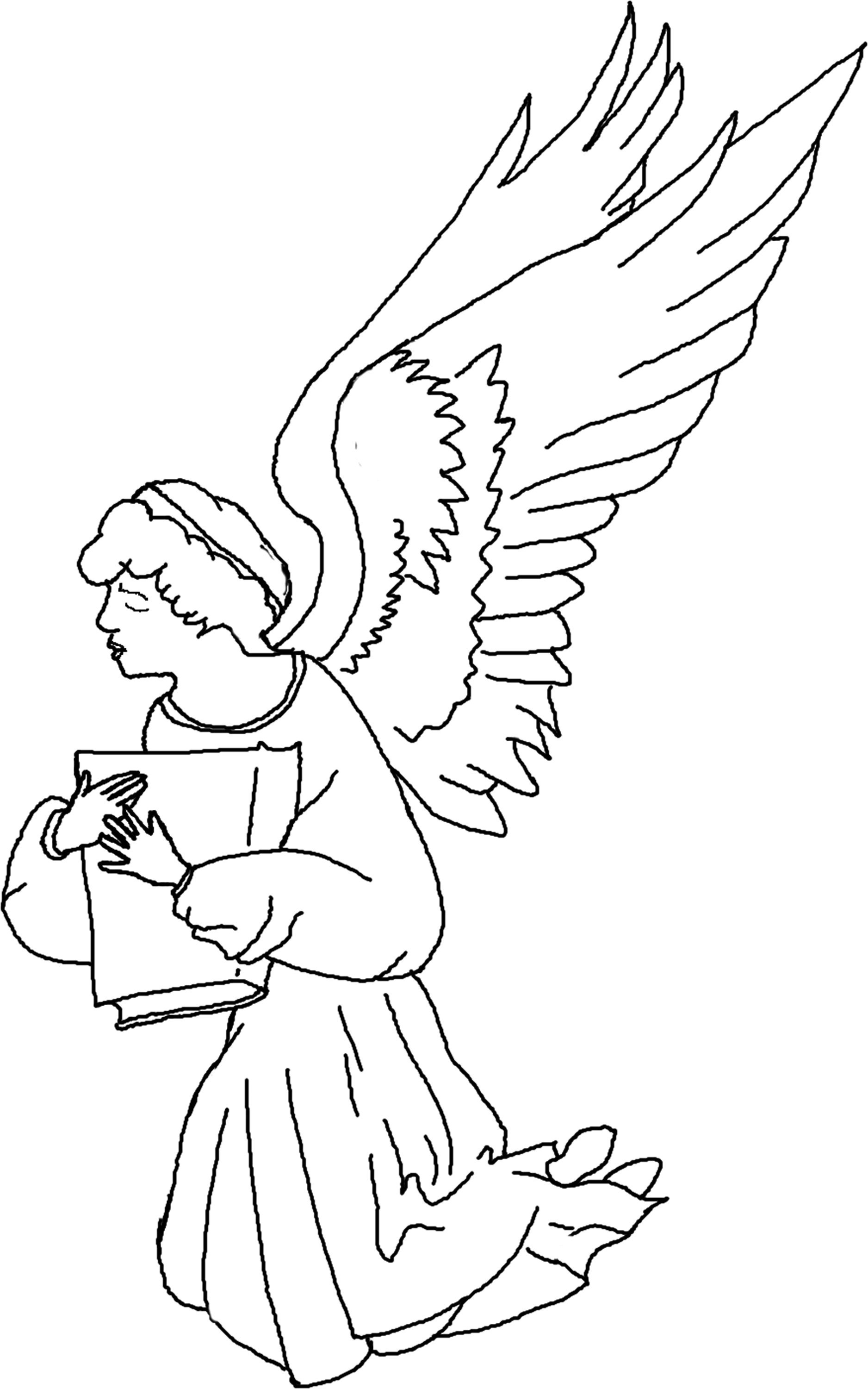 Christmas Mary Angel Coloring Page Nativity Pieces
