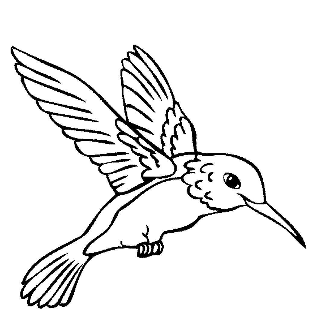Printable Coloring Page Of Birds And Fish For Kids To Color