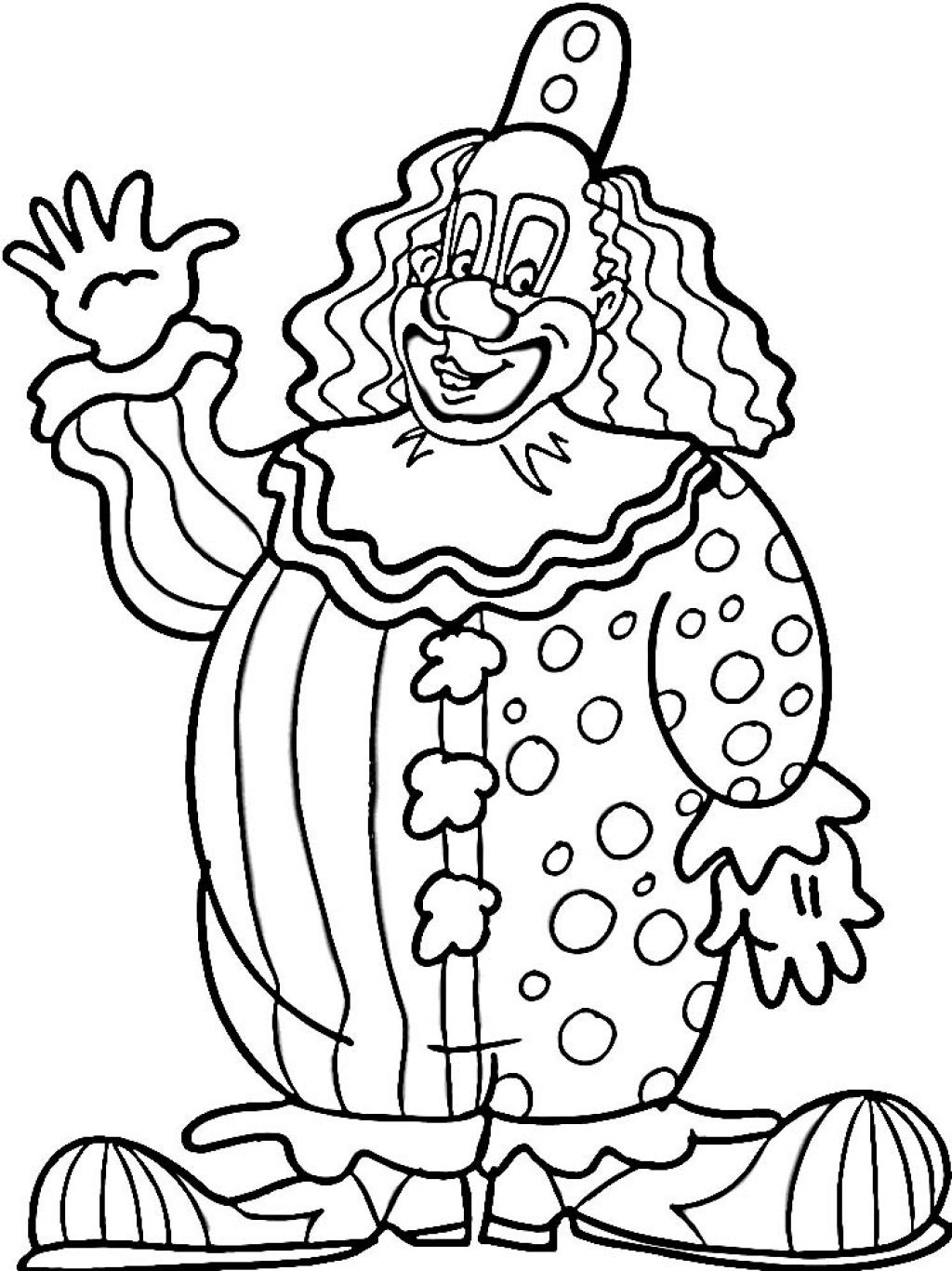 Clown Coloring Book Pages | Circus Kid Clown Coloring Page ...