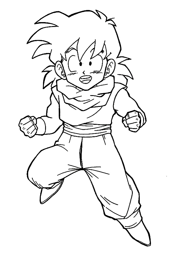 Goten Coloring Pages : goten, coloring, pages, Goten, Childhood, Coloring, Printable, Pages