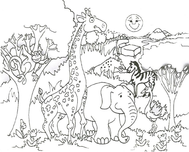Giraffe Coloring Pages - Free Printable Coloring Pages for Kids
