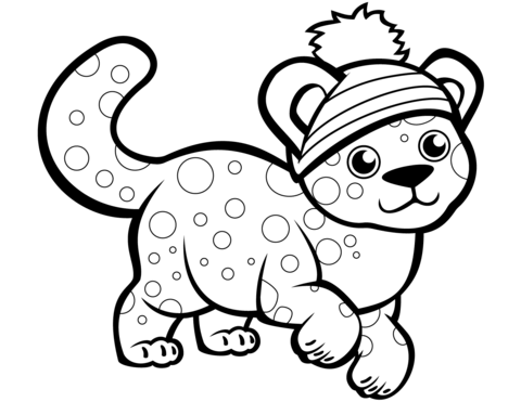 Cute Cheetah Coloring Page Free Printable Coloring Pages For Kids