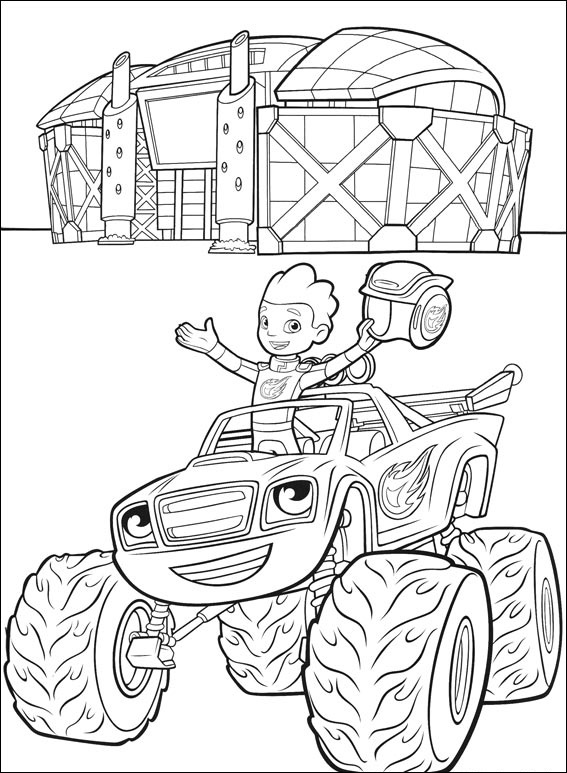 Blaze Coloring Page : blaze, coloring, Blaze, Coloring, Printable, Pages