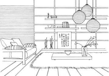 Japanese Living Room Coloring Page Free Printable Coloring Pages for Kids
