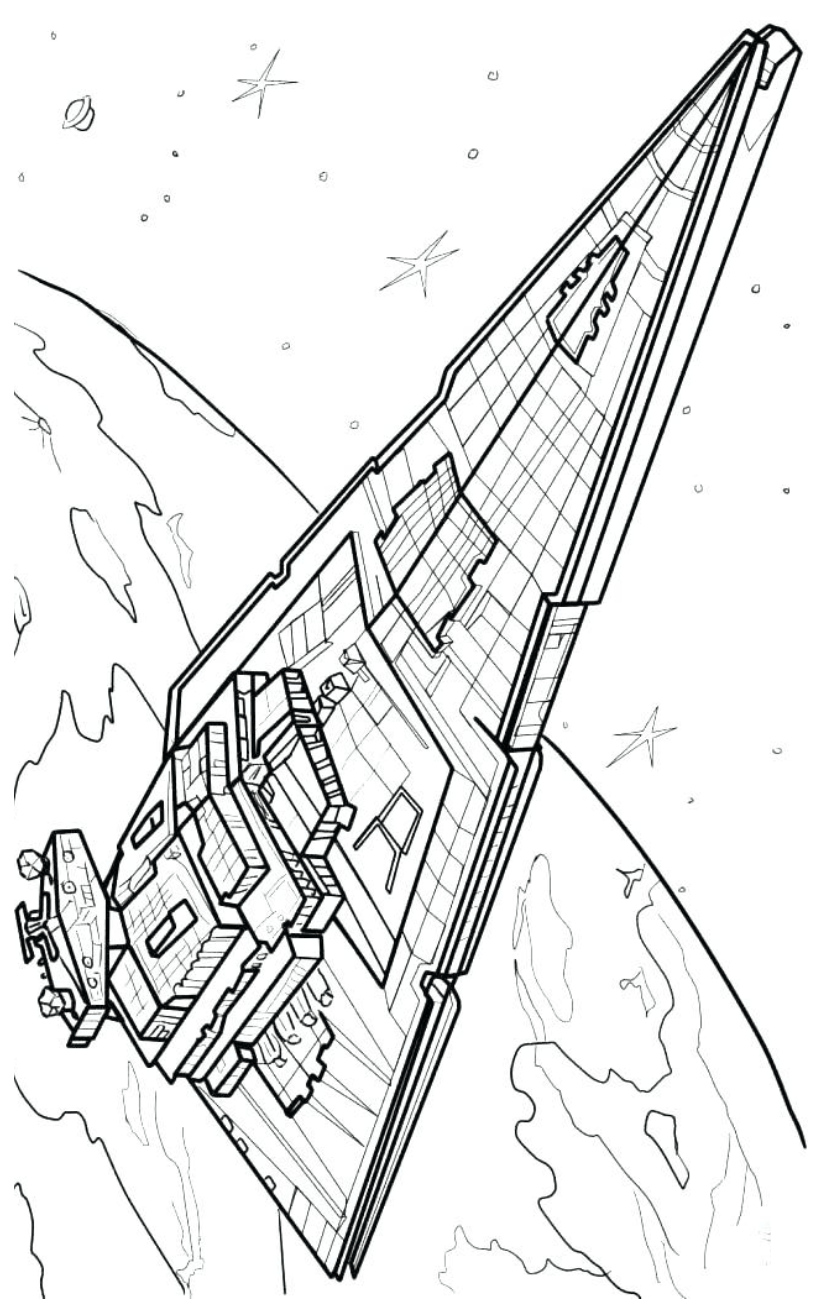 Star Destroyer Coloring Page : destroyer, coloring, Millennium, Falcon, Coloring, Pages