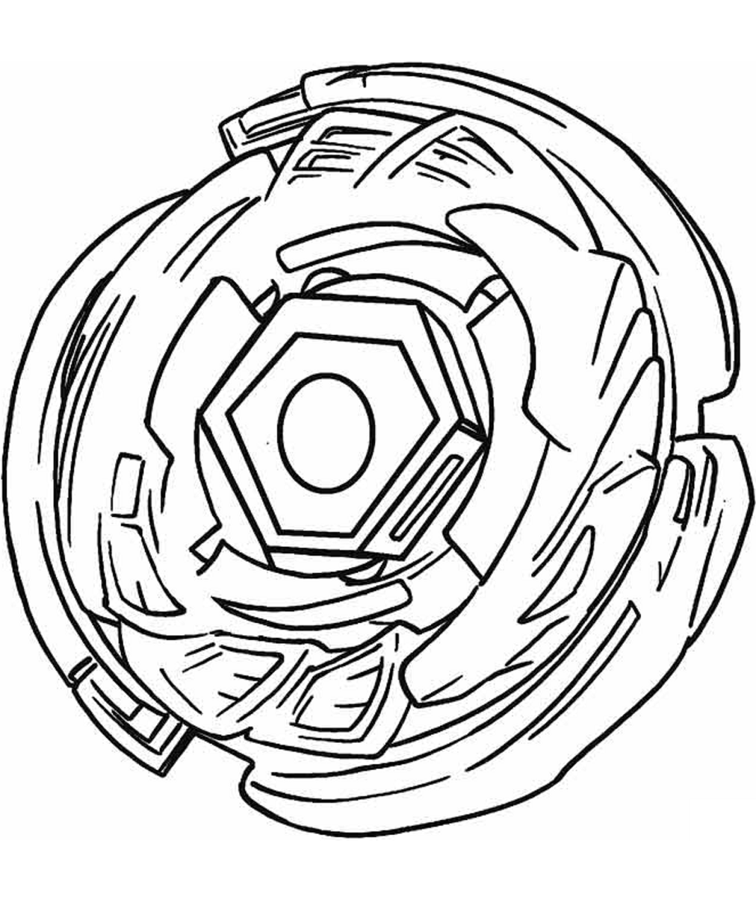 A Beyblade Coloring Page Free Printable Coloring Pages For Kids